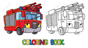 Fire Truck Pictures - Fire Truck Or Firemachine With Eyes Coloring ...