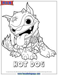 Skylanders Giants Fire Hot Dog Series1 Coloring Page