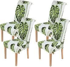 homaxy stretch stuhlhussen blumen universal hussen für stuhl esszimmer waschbare stuhlbezüge 4 stück style 2