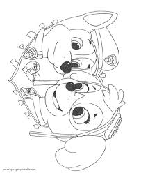Paw Patrol Coloring Pages 46 Sky
