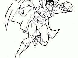 Superman Coloring Pages Kids Printable Free Throughout