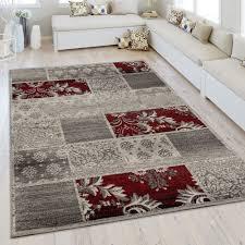 kurzflor teppich modernes patchwork design