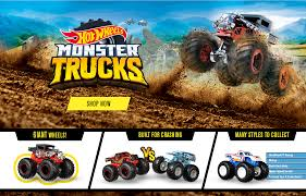100 Monster Trucks Crashing Truck Toys For Kids Hot Wheels