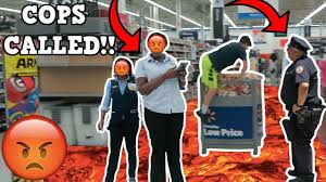 Back Jack Chair Walmart by Floor Is Lava Challenge At Walmart Cops Called Youtube