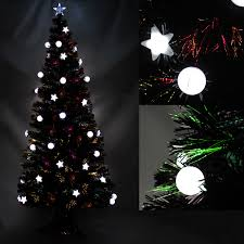 Unlit Christmas Trees Walmart by Ideas Have An Amazing Christmas With Wonderful Fiber Optic
