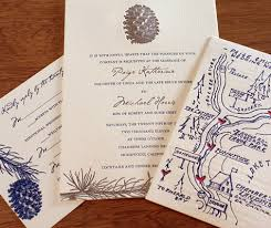 Hand Drawn Map On 2 Color Letterpress Wedding Accommodations And Directions Card With