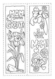 Bookmark Mothers Day In Coloring Pages