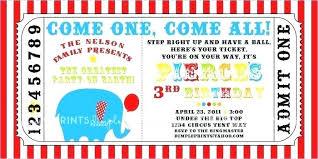 Carnival Ticket Invitation Template Printable Circus Free