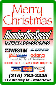 Merry Christmas, Number One Speed Truck Accessories, Watertown, NY