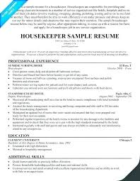Housekeeping Supervisor Resume Cover Letter Manager Sample Examples Resumes Entry Level Room Attendant E Pertain