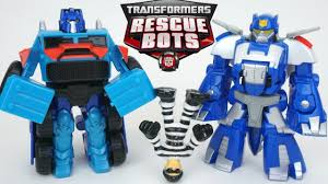 Transformers Rescue Bots Optimus Prime Chase Dinobot Catch A Bad Guy ...
