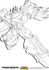 Coloriage Transformers Prime Beast Hunters Bumblebee And Coloring