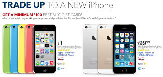 Bring in a trade to Best Buy and the Apple iPhone 5c for $1