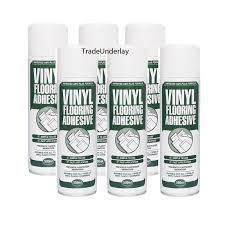 buy vinyl flooring spray adhesive 6 x 500ml tradeunderlay