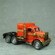 2018 Handmade Metal Truck Tractor Model Vintage Iron Art Optimus ...