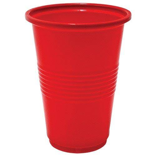 Nicole Home Collection 50 Count Plastic Cup, 16-Ounce, Red