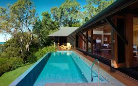 Harmonious Pool Pavilion Plans by Qualia House Luxury Accommodation Qualia Whitsunday