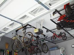 garage ceiling bike storage lift with shelves for high ceiling