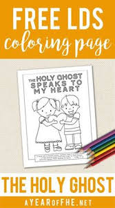 A Year Of FHE Free LDS Coloring Page On The Holy Ghost