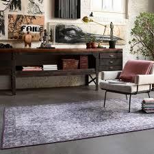 vintage teppich flieder grau kurzflor synchronize weconhome
