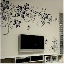 Hot DIY Wall Art Decal Decoration Fashion Romantic Flower Sticker Stickers Home Decor 3D Wallpaper Free Shipping
