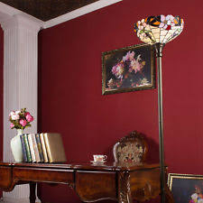 Tiffany Style Glass Torchiere Floor Lamp by Torchiere Floor Lamp Ebay