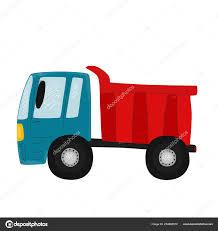 100 Blue Dump Truck Vector Illustration Cute Red Children Prints Shirts