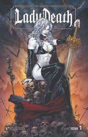 Lady Death Is A Fictional Character Comic Book Goddess Created By Brian Pulido And Steven Hughes First Appeared In Evil Ernie Eternity