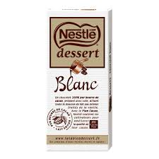 nestlé dessert chocolat blanc 180g houra fr