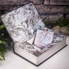 Hollow Book Safe Flask