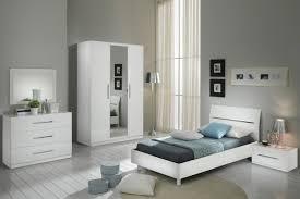 chambre a coucher blanc laqué glorino chambre complète blanc laqué modiva