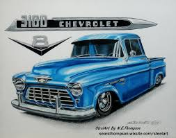 Custom Blue 1955 Chevy Truck - N. E. Thompson - Draw To Drive 1955 Chevy Stepside Lingenfelters 21st Century Classic Truckin Chevy Truck Second Series Chevygmc Pickup Truck 55 Restoration Project Is Half Way Donemayb Flickr 3100 Big Red With Custom Suspension Large Rear Window Other Chevrolet Restore A Muscle Car Llc The 471955 Driven Outrageous Hot Rod Network Chevrolet Cameo Pickup Hotrod Pictures Autocars Tci Eeering 51959 Suspension 4link Leaf