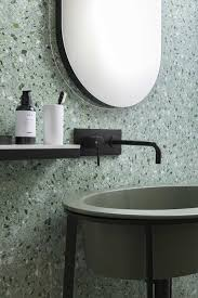 Stylish Terrazzo In The Shades Of Green And Grey Looks Edgy Calming At Same