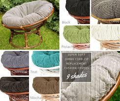 Papasan Chair Cushions Uk by Jumbo Cord Zip Cushion Cover From 95 00 95 00 Papasanchair Co Uk