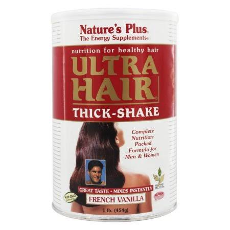Nature's Plus Ultra Hair Thick Shake Supplement - French Vanilla, 1lbs