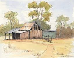 Line And Wash Watercolor And Pen Techniques - Google Search   Pen ... The Barn Westside Rd Urban Sketchers North Bay Old House Sketches Modern Drawn Farm Barn Pencil And In Color Drawn How To Draw A Drawing Wranglers Ribbons Every Place Has A Story To Tell Simple Farm 6 Steps With Pictures Wikihow Clip Art Of And Silo Stock Photography Image Wikipedia Gallery Old Drawings