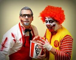 Mcdonalds Halloween Buckets 2012 by Ronald Mcdonald And Colonel Sanders Halloween Pinterest