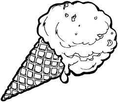 Ice Cream Coloring Pages With Waffle Cone