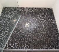 river rock bathroom floor diy shower reviews tile guard