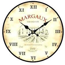 pendule murale cuisine pendule de cuisine 34cm horloge style ancienne pendule