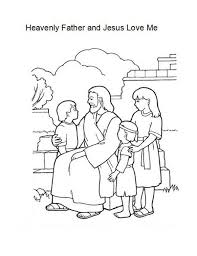 Stylish Ideas Jesus Loves Me Coloring Page Heavenly Father And Love Color Luna