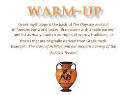 the odyssey in modern warm up mythology is the basis of the odyssey and still