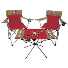 San Francisco 49ers Rawlings Tailgate Chair And Table Set