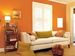 orange color for living room home design