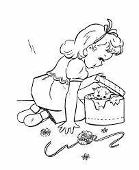 Birthday Presents Coloring Page