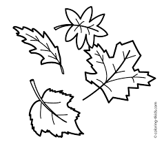 Fall Leaf Coloring Pages With Leaves Page