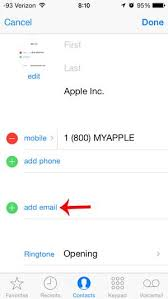 How to Add an Email Address to a Contact on the iPhone Solve