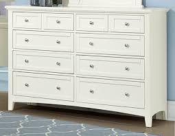 Vaughan Bassett Triple Dresser by American Bonanza 8 Drawer Triple Dresser In White