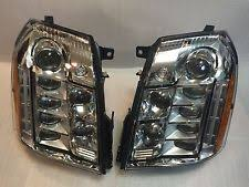 Escalade Platinum Passenger Driver Headlights Pair LED OEM