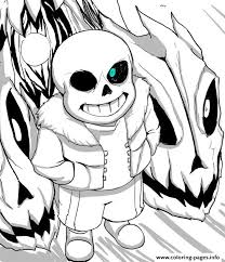 Print Cool Undertale By Aoshi7 Coloring Pages